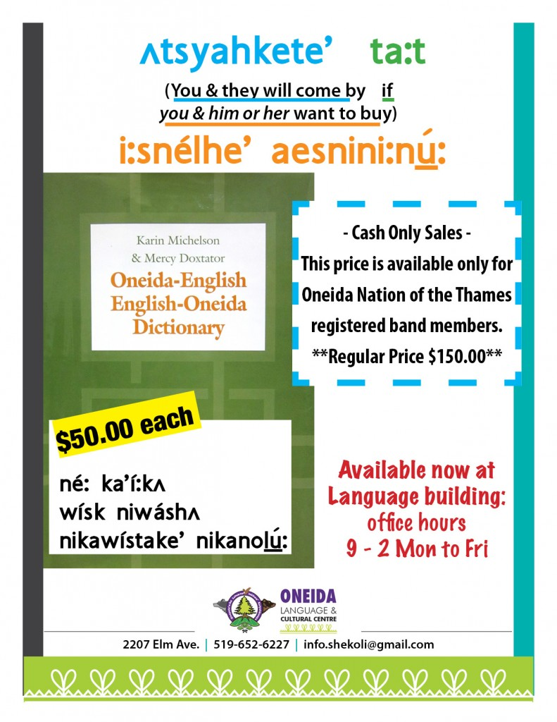 2015_Oneida dictionary poster in language